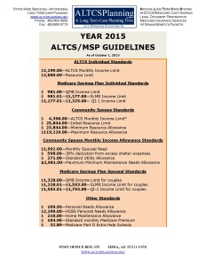 Image of ALTCS/MSP Standards