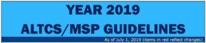 Year 2019 ALTCS/MSP Guidelines