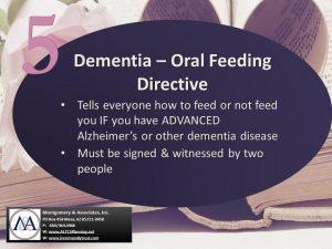 Dementia Oral Feeding Directive