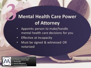 Mental Health Care Power of Attorney